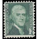 #1278 1c Prominent Americans Thomas Jefferson 1968 Used