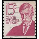 #1305e 15c Prominent Americans Oliver Wendell Holmes Coil Single 1978 Used