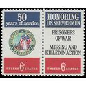 #1421-1422 6c Disabled American Vets Pair 1970 Mint NH