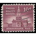 #1044 10c Liberty Issue - Independence Hall 1956 Used