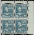 # 826 21c Presidential Issue-Chester A. Arthur PB/4 1938 Mint NH