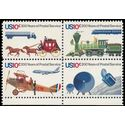 #1572-1575 10c 200 Years of the United States Postal Service Block/4 1975 Mint NH