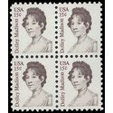 #1822 15c Dolley Madison 1980 Block of 4  Mint NH