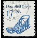 #2135 17c Dog Sled 1920s Coil Single 1986 Used