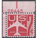 Scott C 60 7c US Airmail Silhouette of Jet Airliner P# 1960 Mint NH