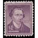 #1052 $1.00 Liberty Issue Patrick Henry Dry Print 1958 Used