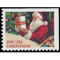 #2538 29c Christmas Santa with Present Booklet Single 1991 Mint NH