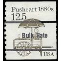 #2133a 12.5c Transportation Issue Pushcart 1880s Precancel 1985 Used