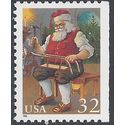 #3007c 32c Santa Claus Working on Sled Booklet Single 1995 Mint NH