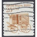 #2136 25c Bread Wagon 1880s PNC Single P#4 1986 Used