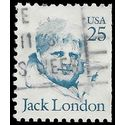 #2182a 25c Great Americans Jack London Booklet Single 1988 Used