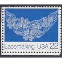 #2354 22c American Folk Art-Lacemaking 1987 Used