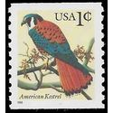 #3044 1c American Kestrel Coil Single 1996 Mint NH