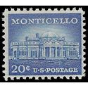 #1047 20c Liberty Issue Monticello 1956 Mint NH