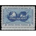 #1070 3c Atoms for Peace 1955 Mint NH
