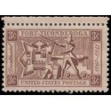 #1071 3c Fort Ticonderoga 1955 Mint NH