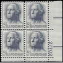 #1213 5c George Washington PB/4 1962 Mint NH