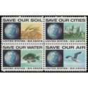 #1410-1413 6c Anti-Pollution Issue Block/4 1970 Mint NH