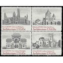 #1838-1841 15c American Architecture Block of 4 1980 Mint NH