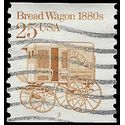 #2136 25c Bread Wagon 1880s  PNC Single P#3 1986 Used