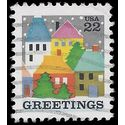 #2245 22c Christmas Issue Village Scene 1986 Used