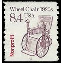#2256 8.4c Wheel Chair 1920c Nonprofit PNC Coil Single #2 1988 Used