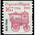 #2261 16.7c Bulk Rate Popcorn Wagon PNC Coil Single #1 1988 Used