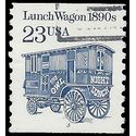 #2464 23c Lunch Wagon 1890s PNC Single #3 1991 Used