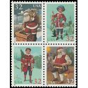 #3004-3007 32c Santa and Children Block of 4 1995 Mint NH
