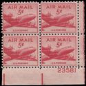 Scott C 33 5c US Airmail DC-4 Skymaster PB/4 1947 Mint NH