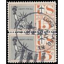 Scott C 58 15c US Airmail Statue of Liberty Pair 1959 Used