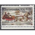 #1551 10c Christmas Currier and Ives 1974 Mint NH
