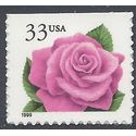 #3052 33c Coral Pink Rose Booklet Single 1999 Mint NH