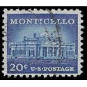 #1047 20c Liberty Issue Monticello 1956 Used