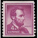 #1058 4c Liberty Issue Abraham Lincoln Coil Single 1958 Used