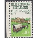 #1542 10c 200th Anniv. Fort Harrod Kentucky 1974 Mint NH