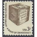 #1584 3c Early Ballot Box Dull Gum1977 Mint NH