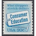 #2005 20c Consumer Education Coil Single 1982 Mint NH