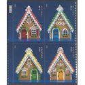 #4817-4820 (49c Forever) Gingerbread Houses Booklet PB/4 2013 Mint NH