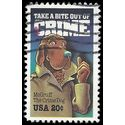 #2102 20c Take a Bite out of Crime 1984 Used