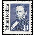 #2194d $1.00 Great Americans John Hopkins 1992 Used
