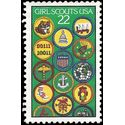 #2251 22c 75th Anniv. Girl Scouts 1987 Used