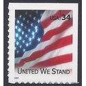 #3549 34c United We Stand Booklet Single 2001 Mint NH
