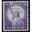 #1035 3c Statue of Liberty 1954 Mint NH