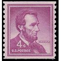 #1058 4c Liberty Issue Abraham Lincoln Coil Single 1958 Mint NH