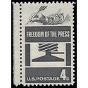 #1119 4c Freedom of the Press 1958 Mint NH