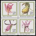 #2076-2079 20c Orchids Block of 4 1984 Mint NH