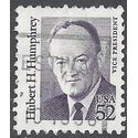 #2189a 52c Great Americans Hubert H. Humphrey 1991 Used