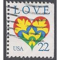 #2248 22c Love Heart 1987 Used