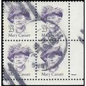 #2181 23c Great Americans Mary Cassatt Plate Block/4 1988 Used